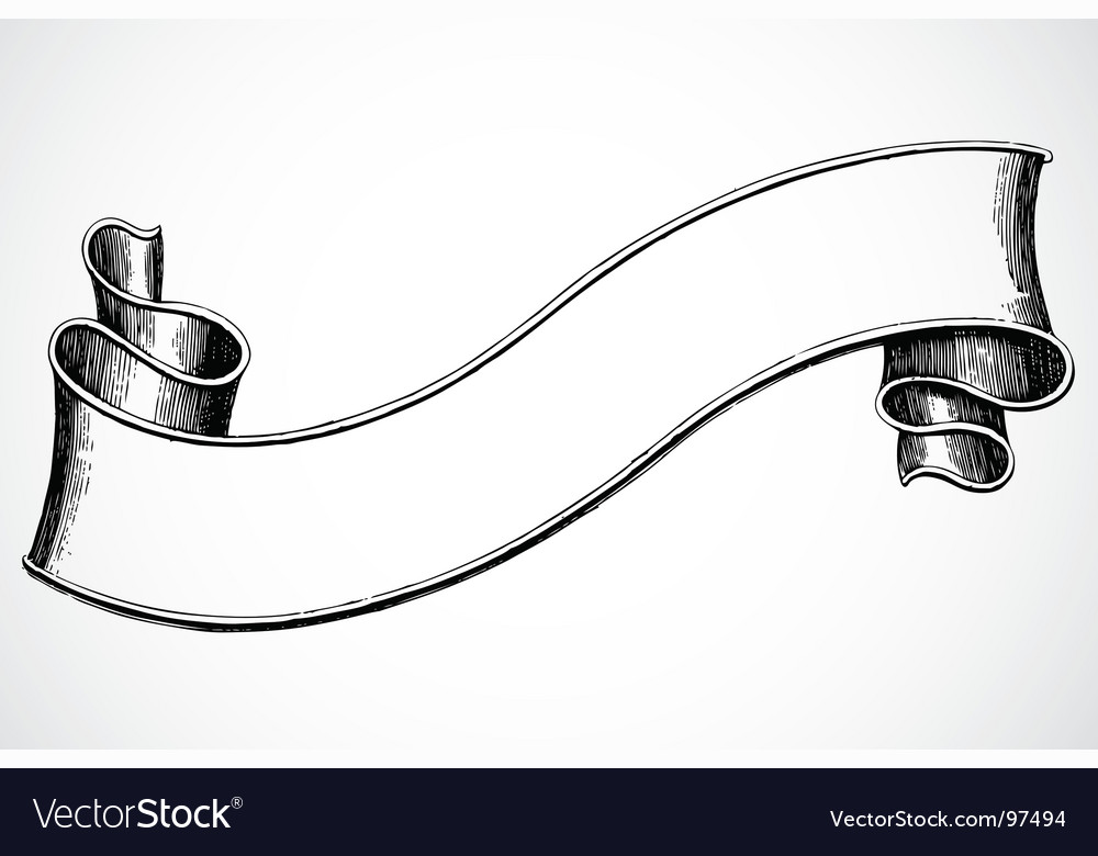 Scroll banner vector image