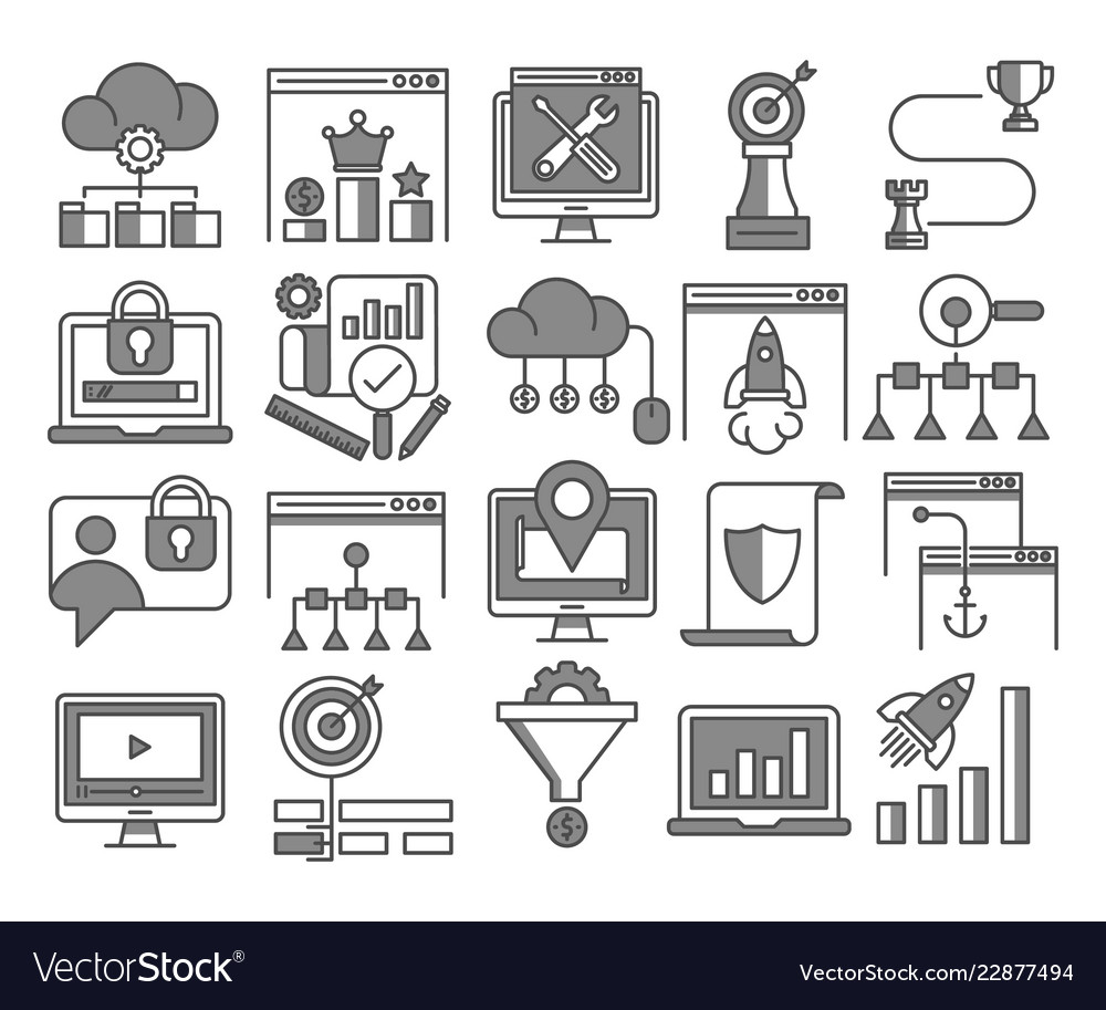 Seo and web optimization icons
