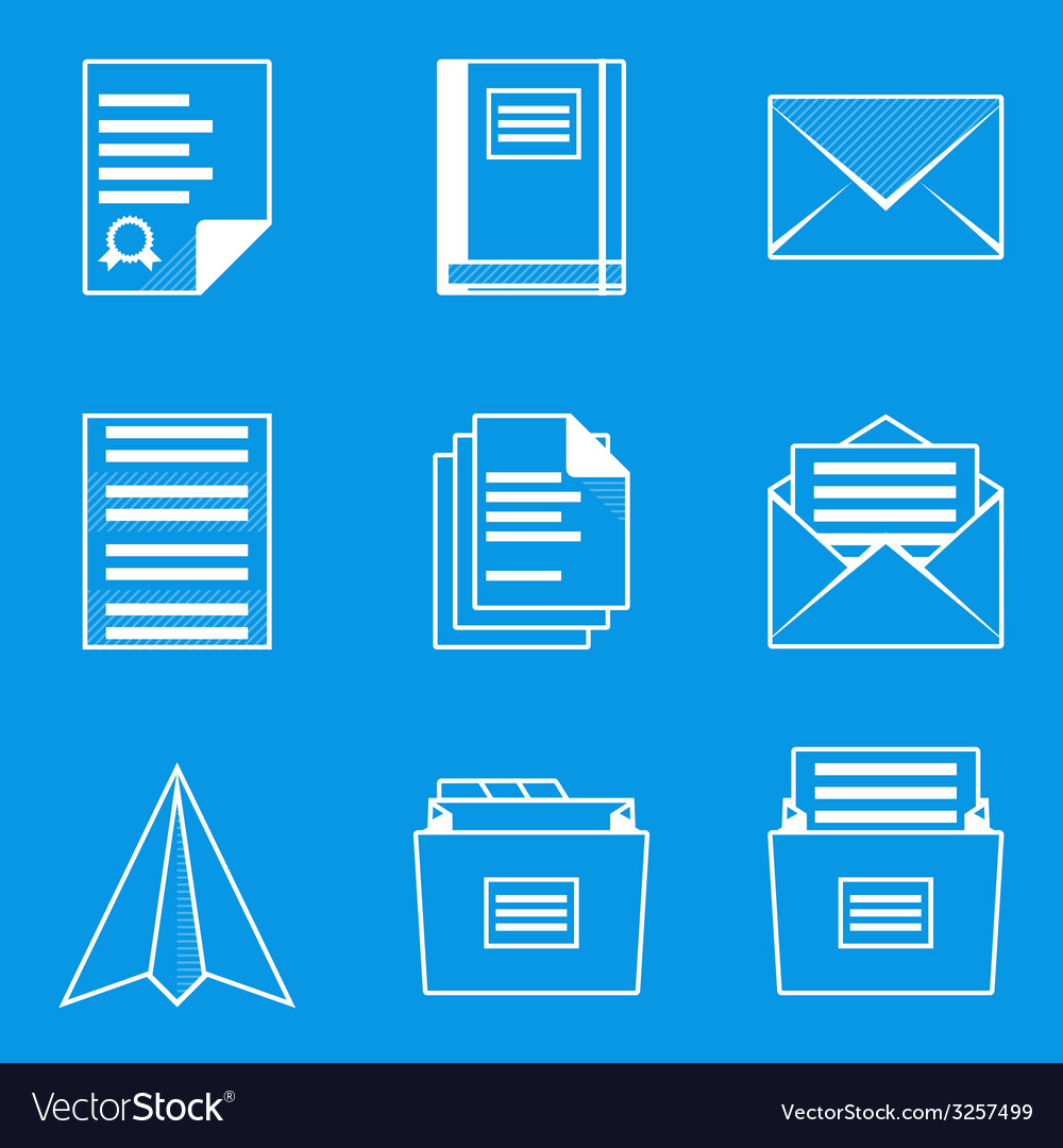 Blueprint icon set paper 2 royalty free vector image blueprint icon set paper 2 vector image malvernweather Images