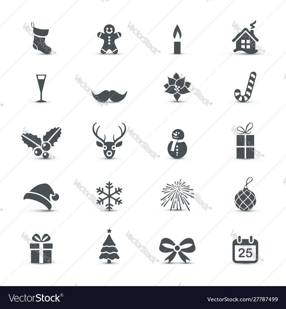 Christmas and new year icons collection