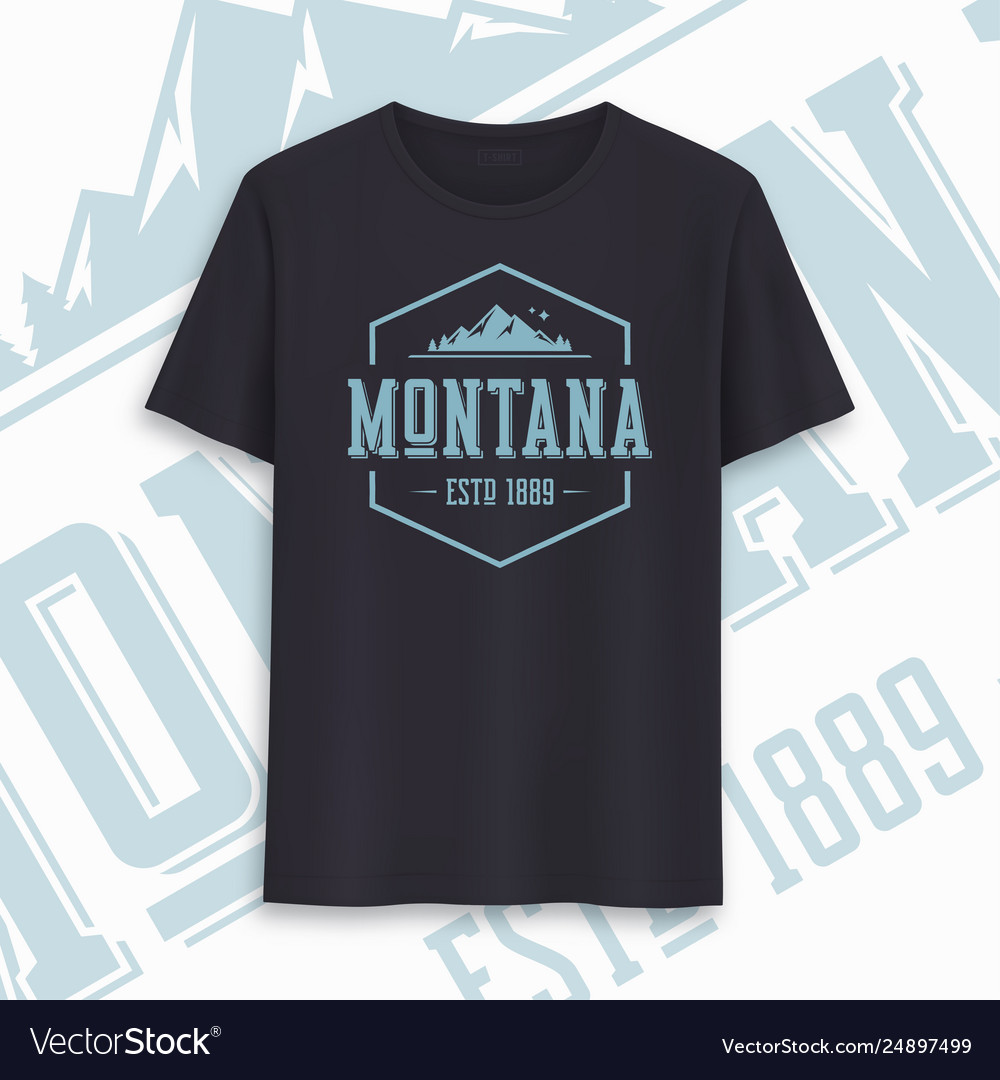 Montana state graphic t-shirt design typography