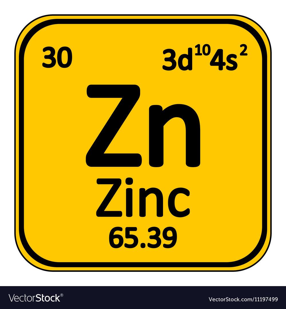 Periodic table element zinc icon royalty free vector image periodic table element zinc icon vector image urtaz Images