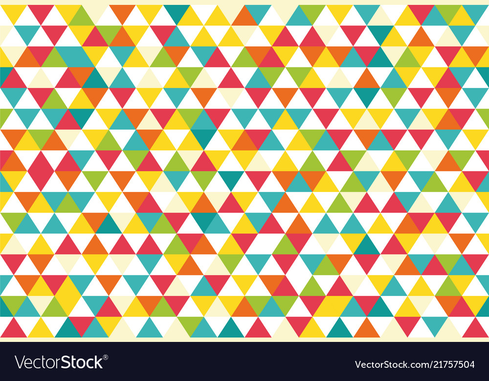 Colorful abstract triangles retro paper pattern vector
