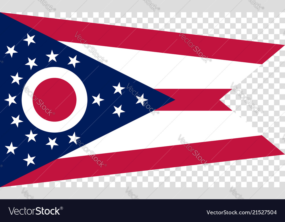 Flag of the us state of ohio detailed