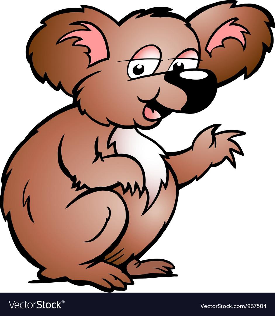 Hand-drawn of an Koala Bear vector image