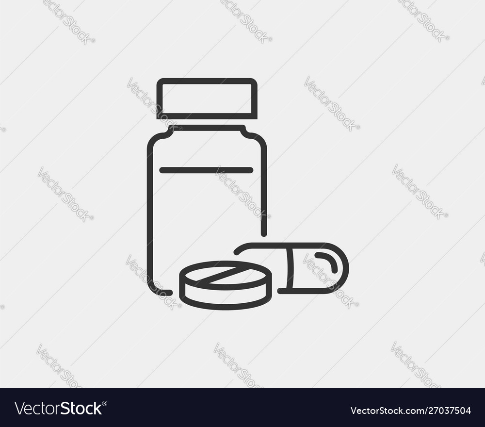 Medical icons pills and capsules icon medicine