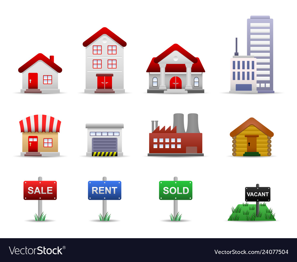 Real estates property icons this is a group of