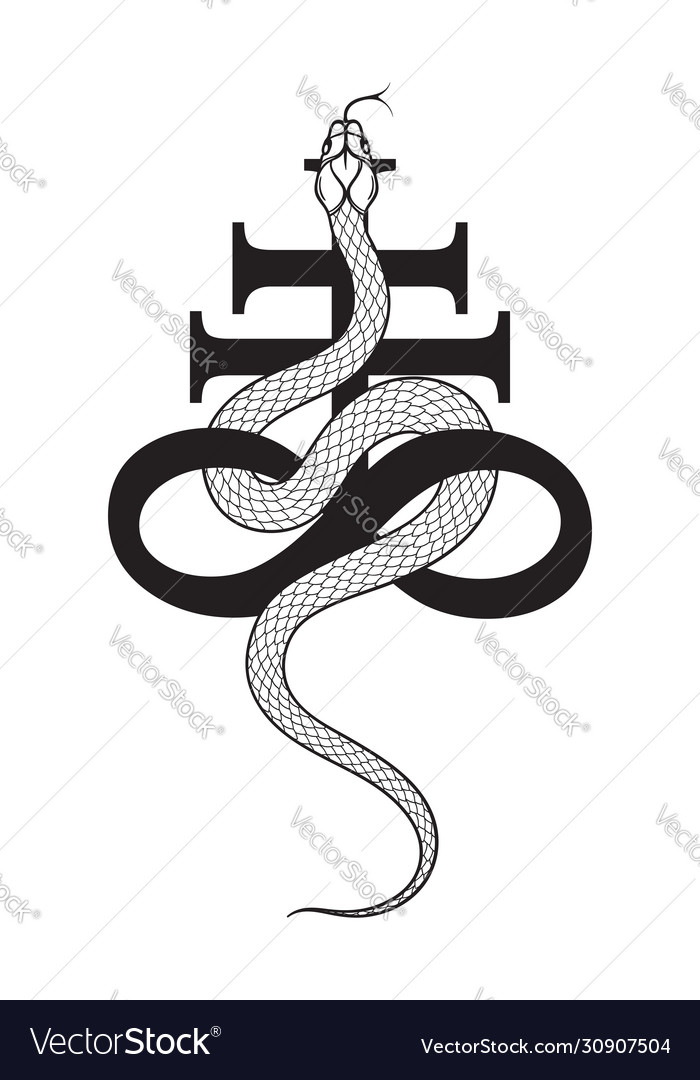 Cross Leviathan Occult Vector Images 21