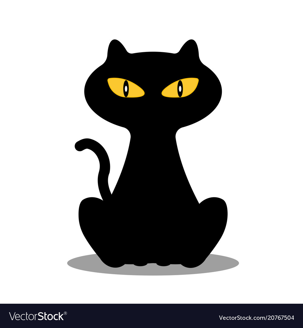Silhouette of cat on white background
