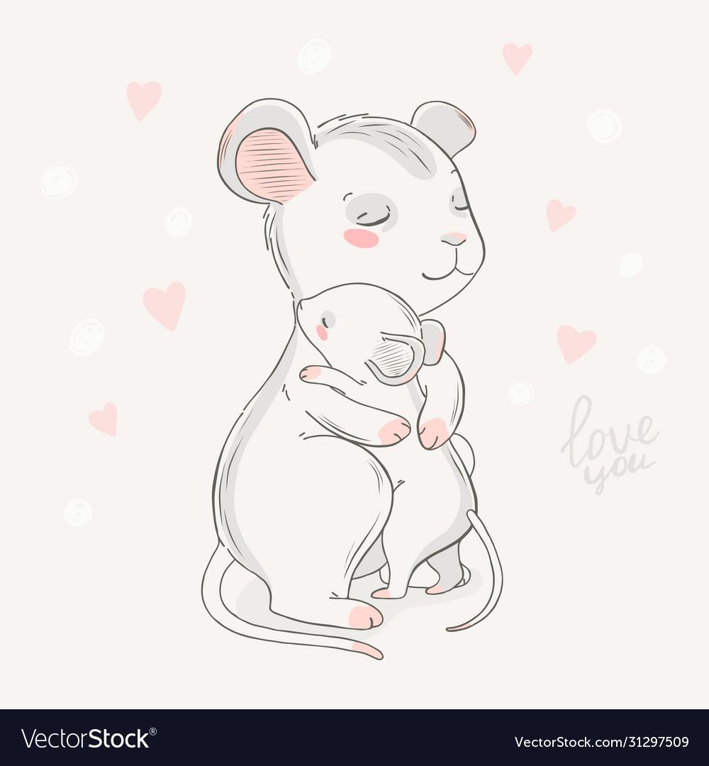 Animal family character