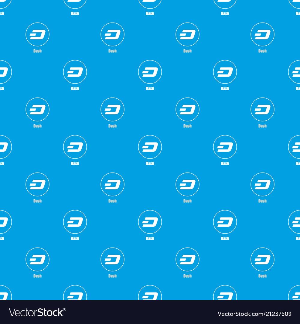 Dash pattern seamless blue