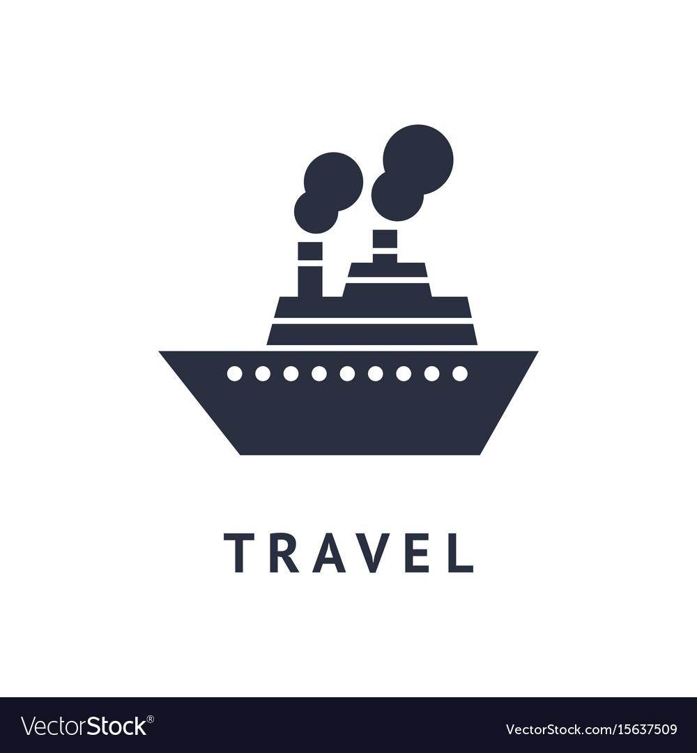 Digital black travel boat