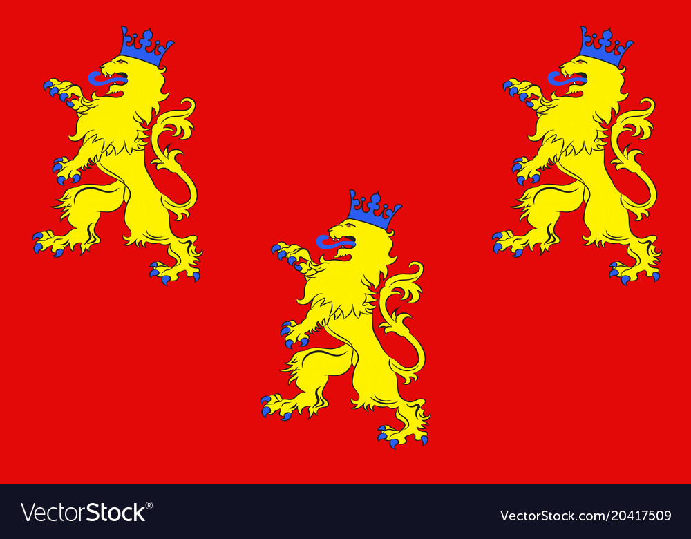 Flag Dordogne In Nouvelle Aquitaine Is The Vector Image