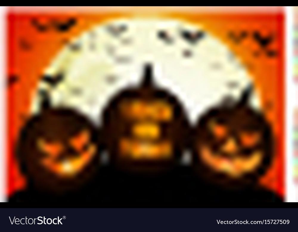 Halloween pumpkins on the full moon
