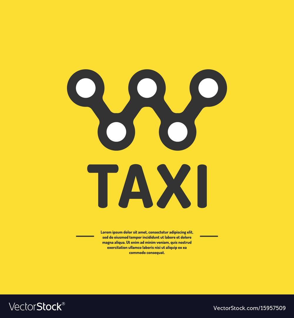 Logo for a taxi company