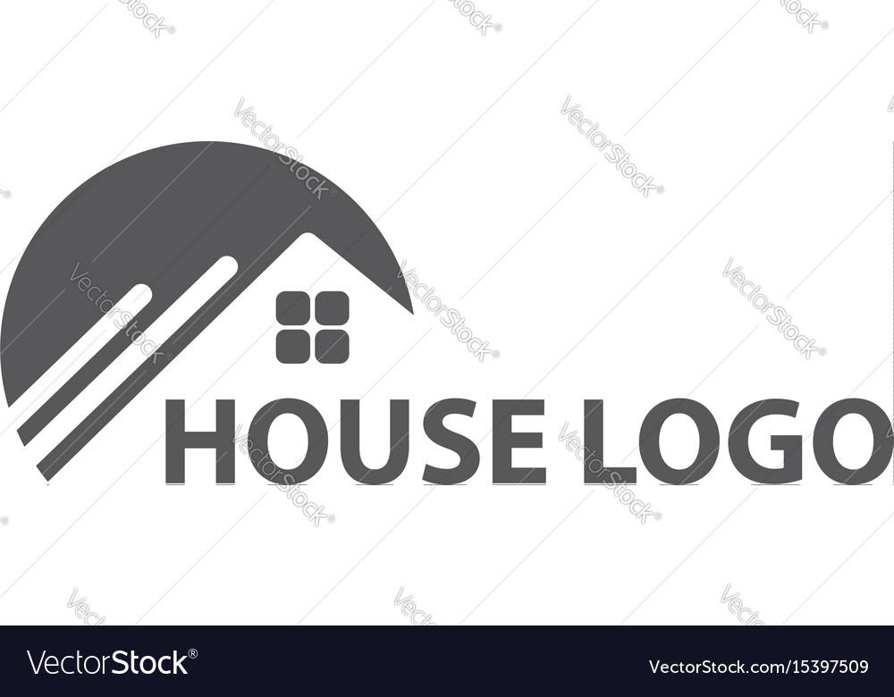 Monochrome house logo