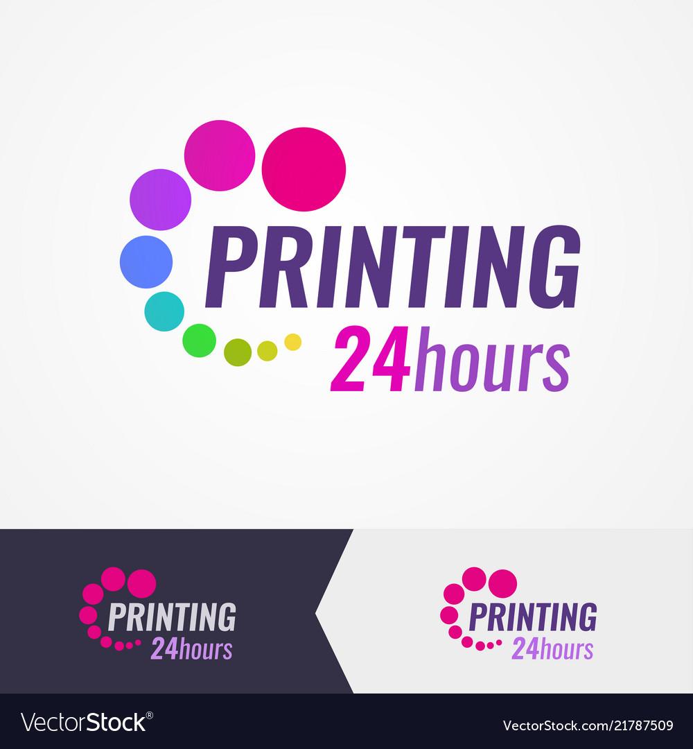 Printing salon colorful logo on different