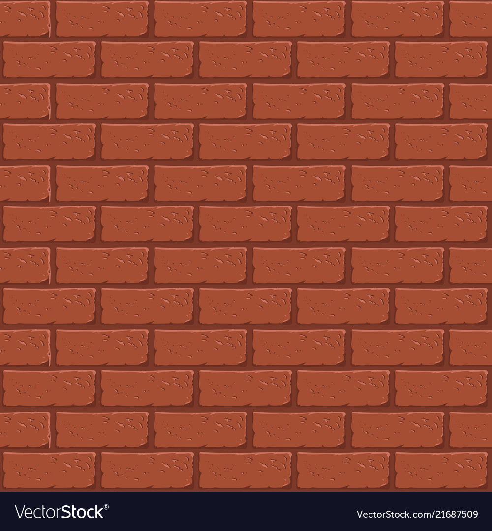 Seamless brick wall pattern in cartoon style