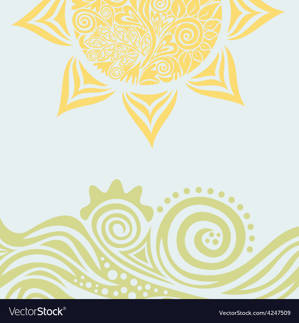 Sun nature pattern background vector image