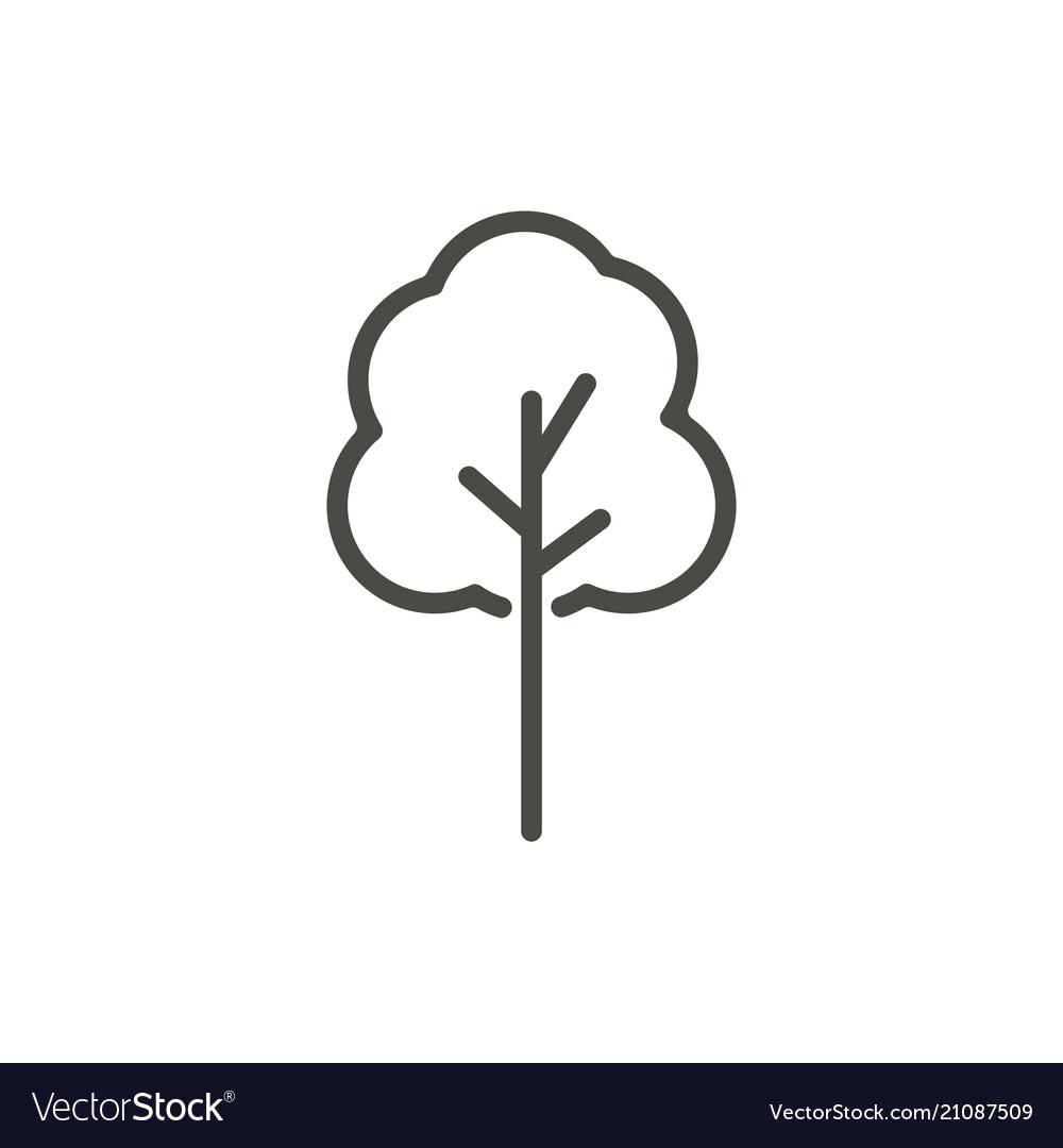 Tree icon line symbol Royalty Free Vector Image