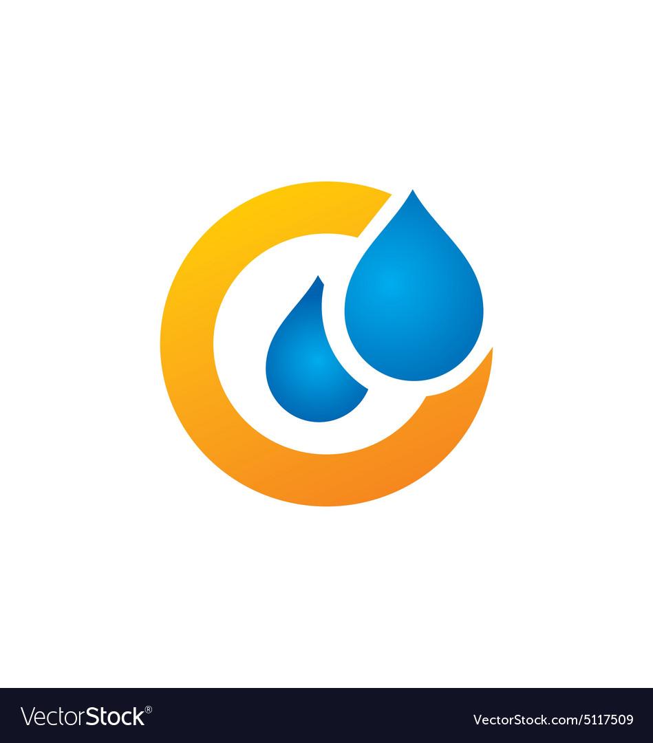 Water drop symbol logo