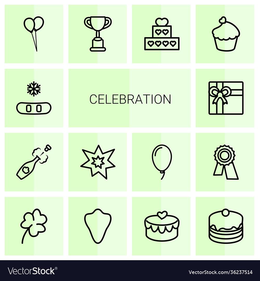 14 celebration icons