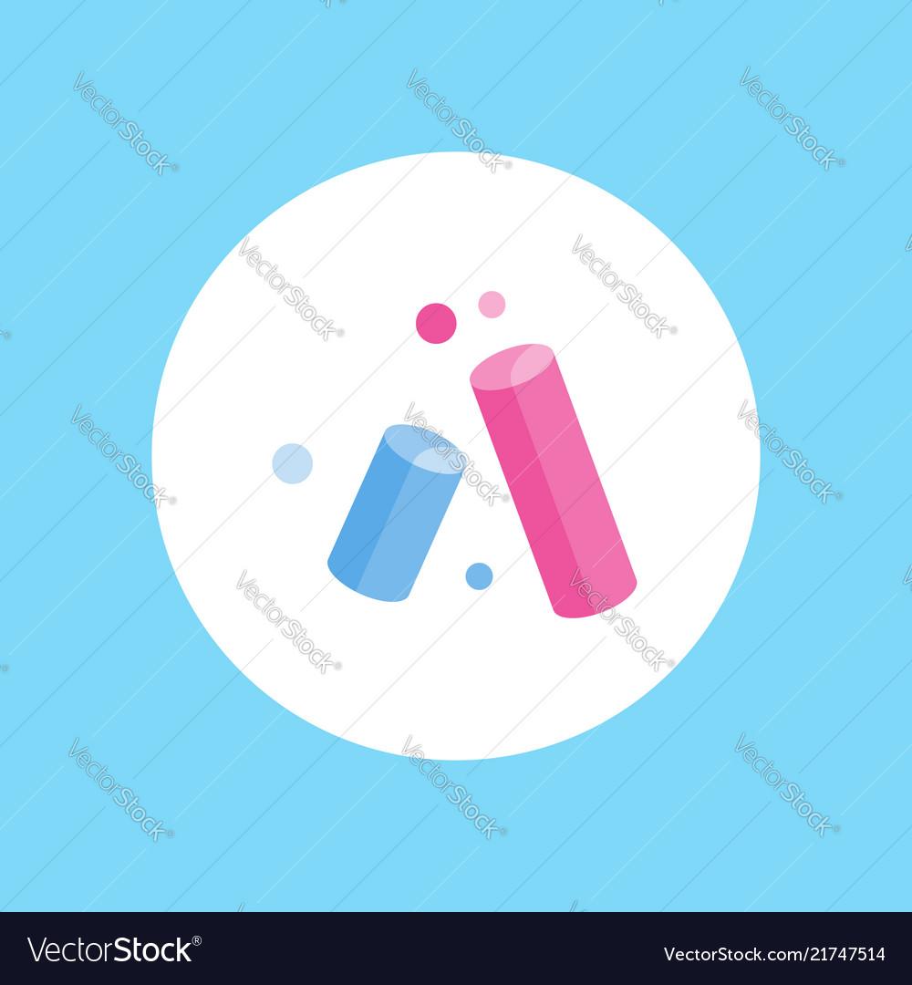 Chalks icon sign symbol