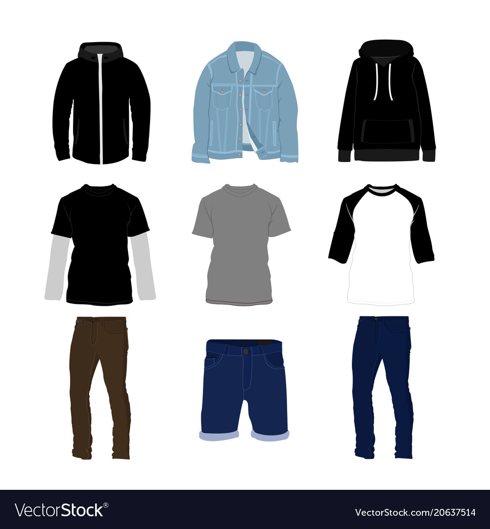 Clothes and pants fashion style item set
