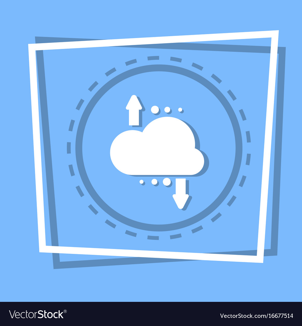 Cloud with arrow icon digital data backup storage vector image
