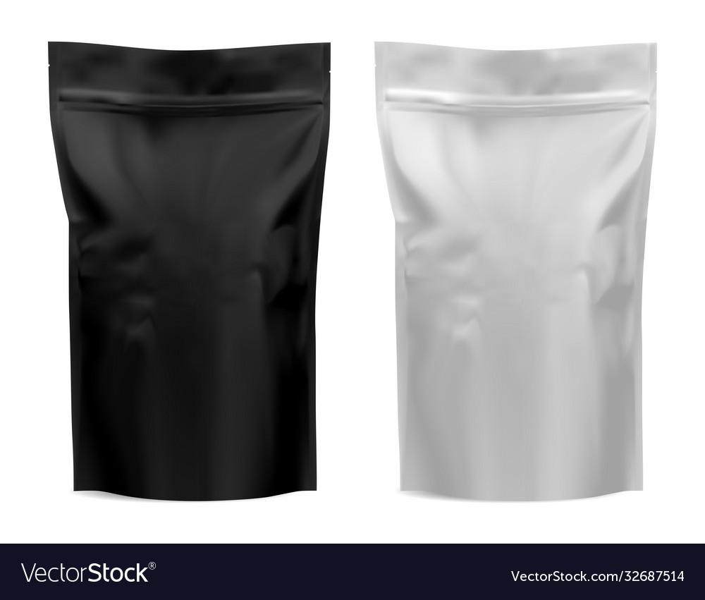Coffee package foil bag mockup flour tea pouch