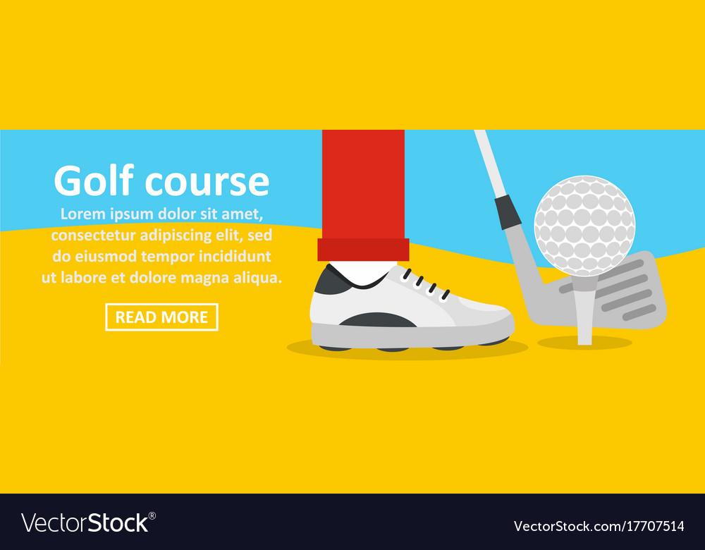Golf Course Banner Horizontal Concept Royalty Free Vector