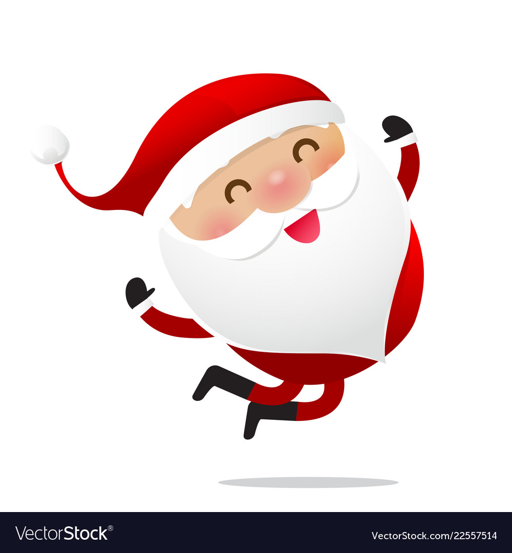happy christmas character santa claus cartoon 016 vector image vectorstock
