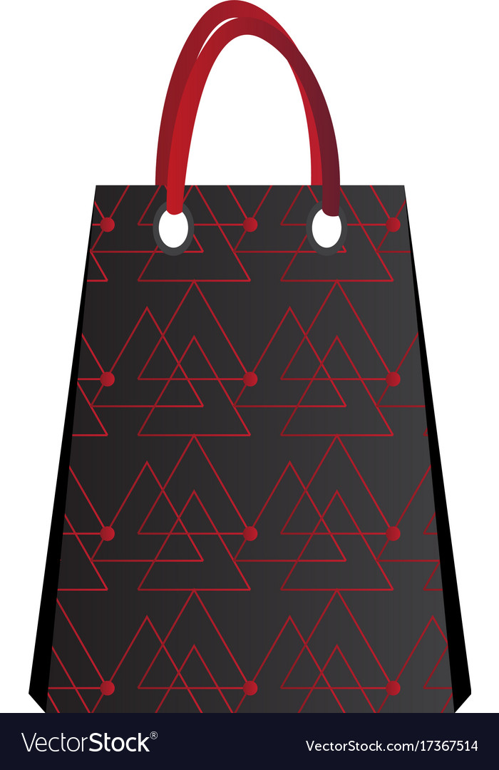 Isolated empty shopping bag vector image