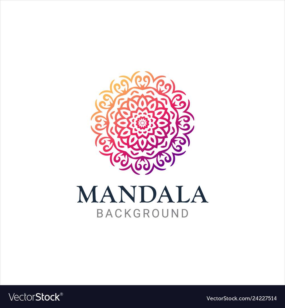 Luxurious gradient mandala background