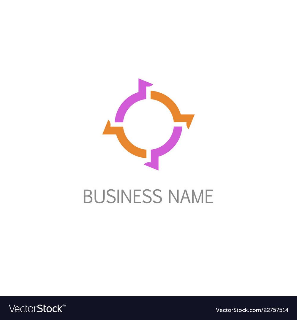 Round circle arrow technology business logo