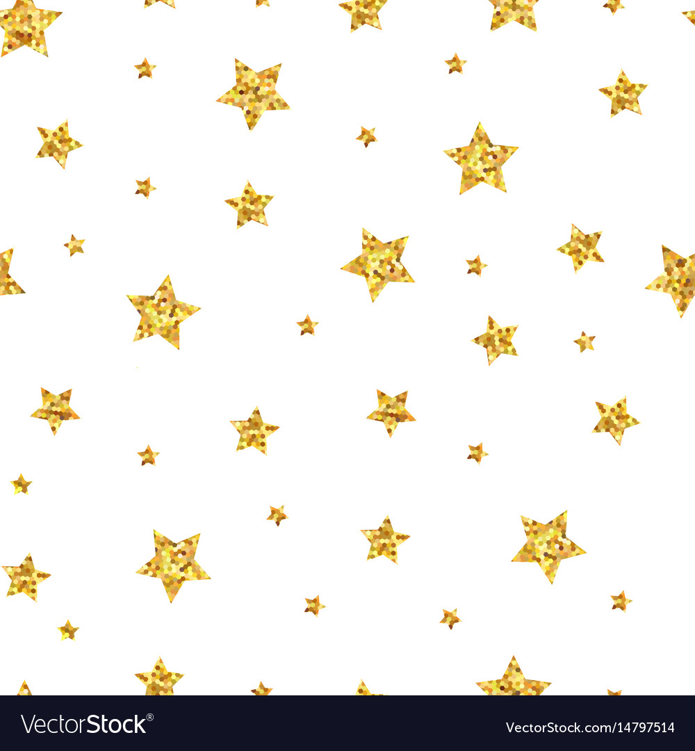 Seamless pattern background with gold stars