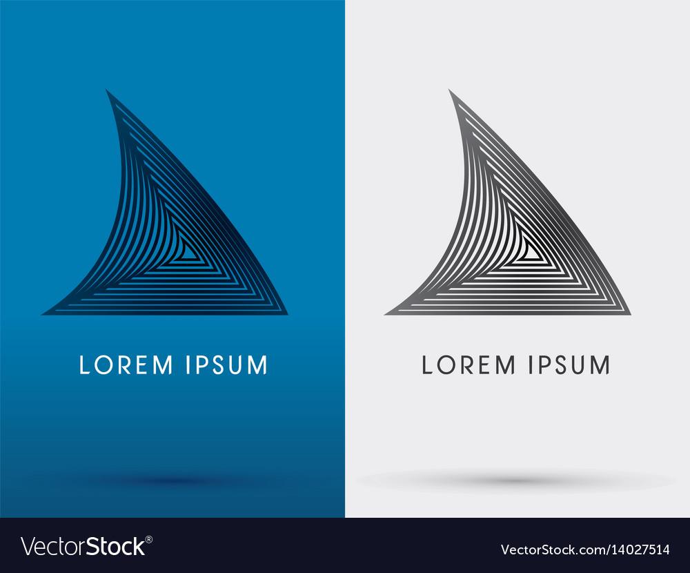 Shark fin vector image