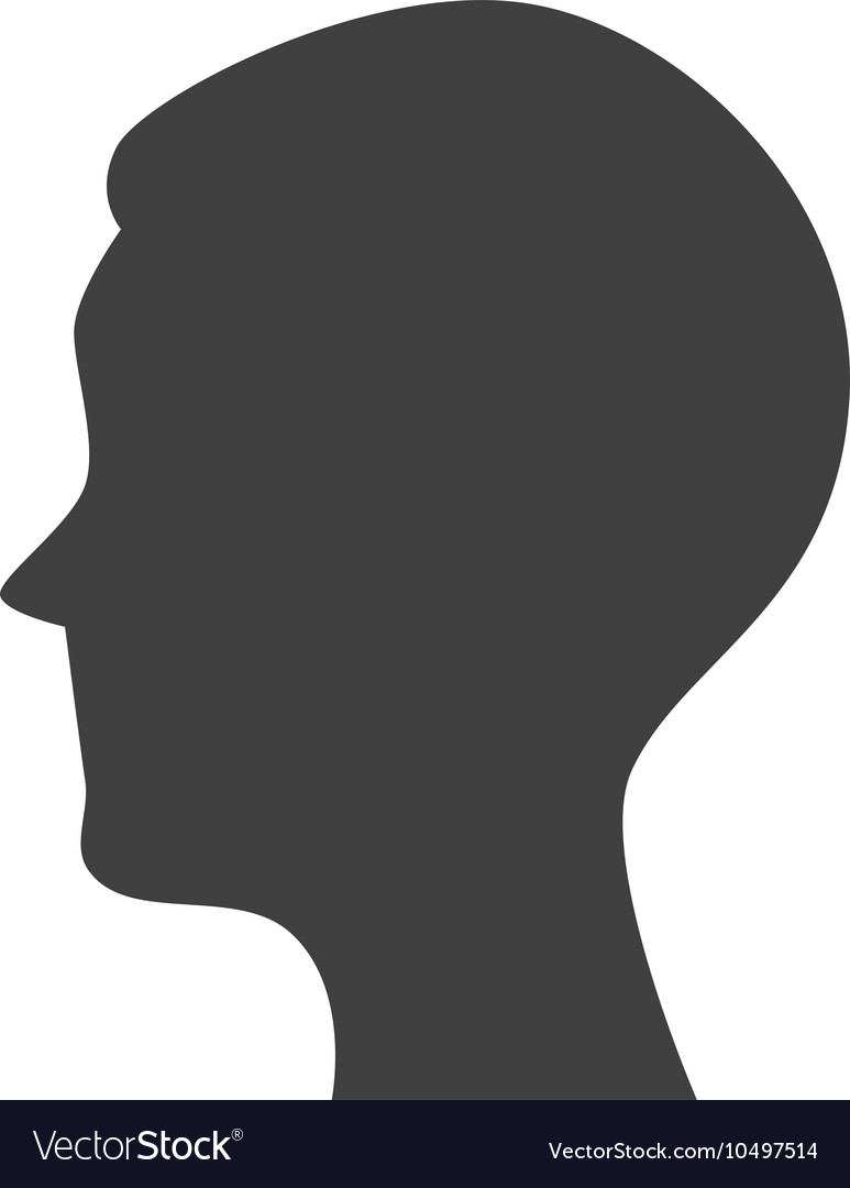 Silhouette head person profile isolated