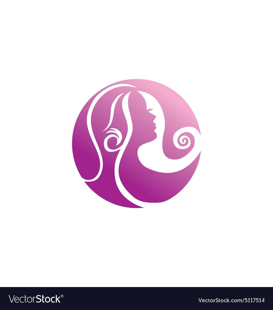 Woman beauty abstract hair logo