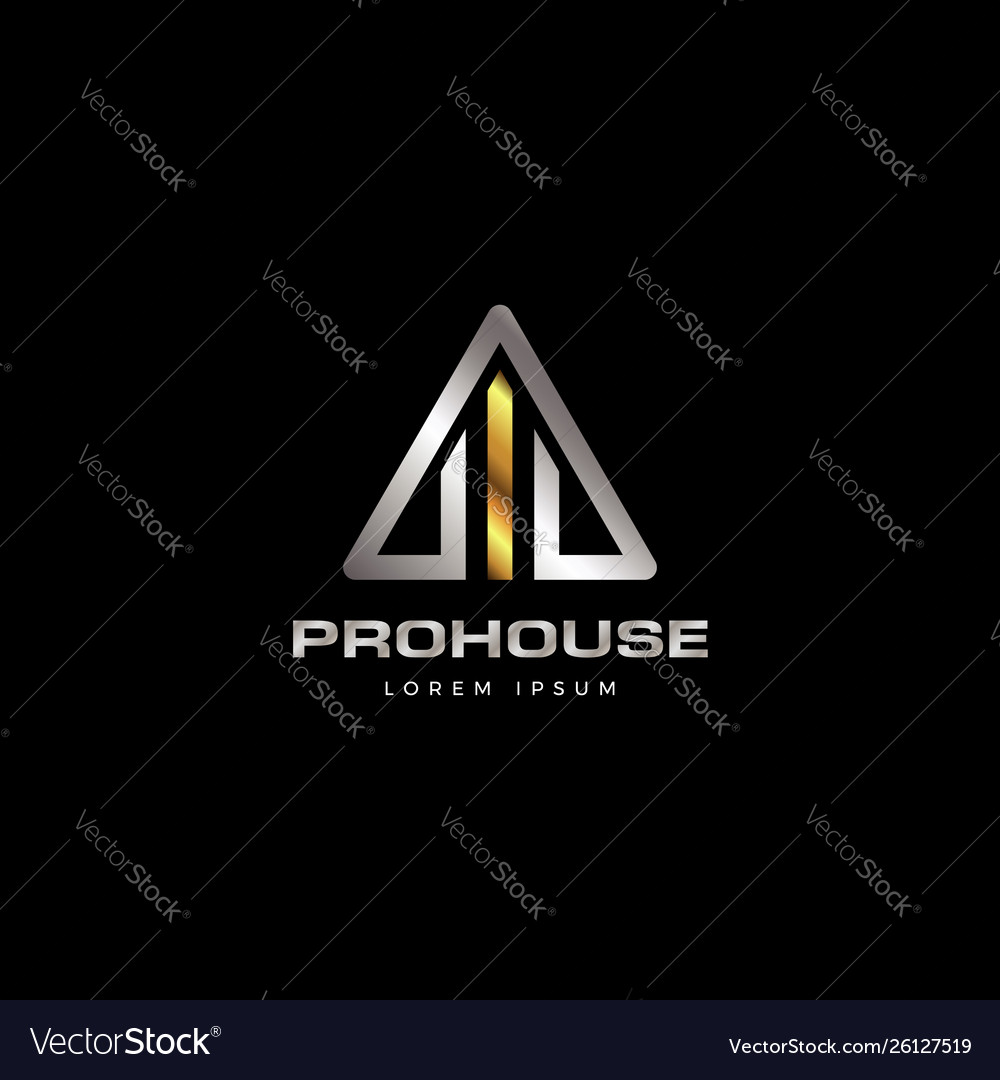 Abstract triangle shape modern house property