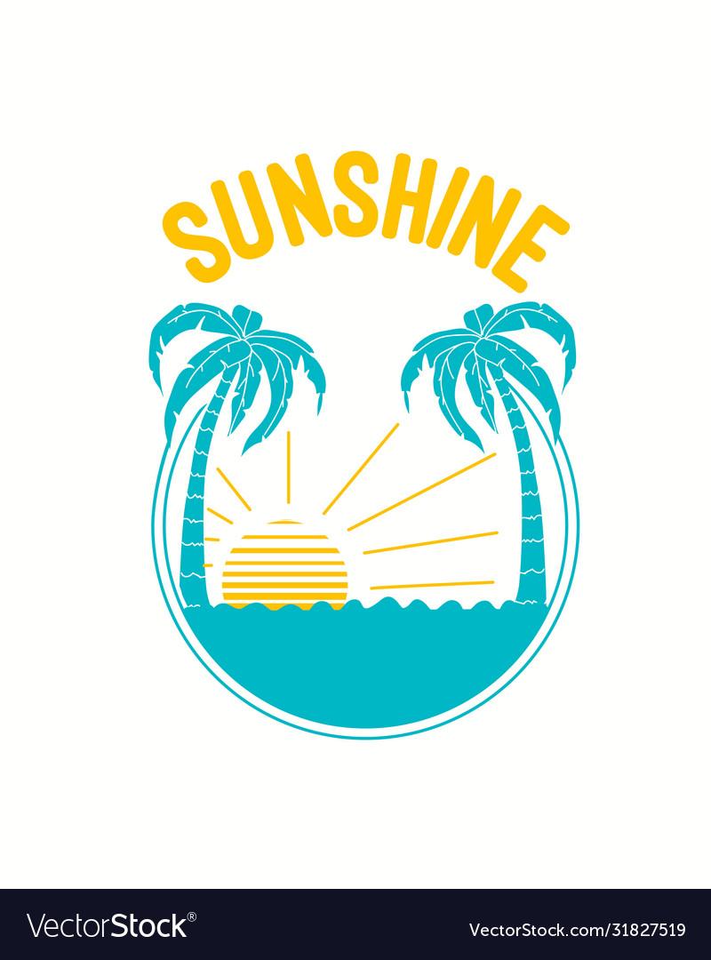 Beach print design with slogan