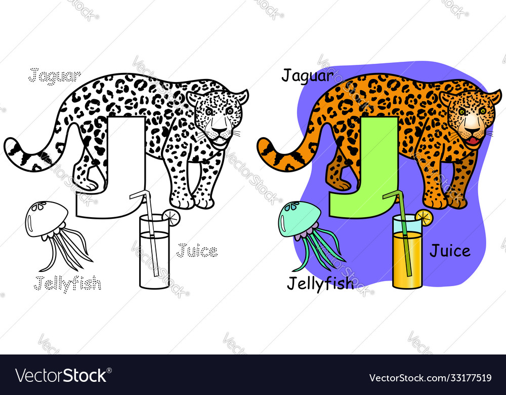 - English Alphabet Coloring Book For Children Vector Image