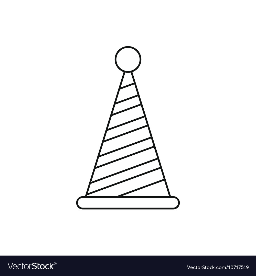 Party Hat Icon Outline Style Royalty Free Vector Image