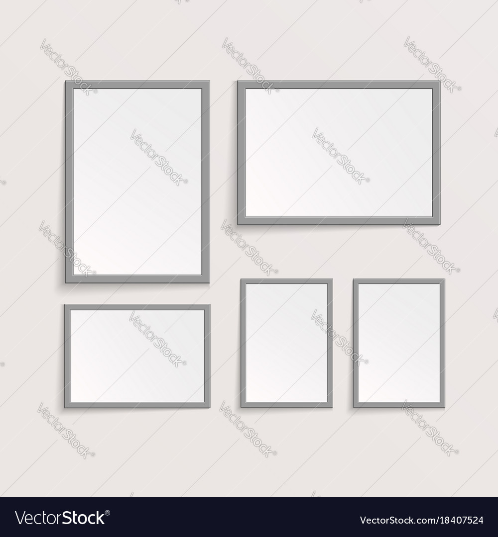 3d picture or photo frame design Royalty Free Vector Image