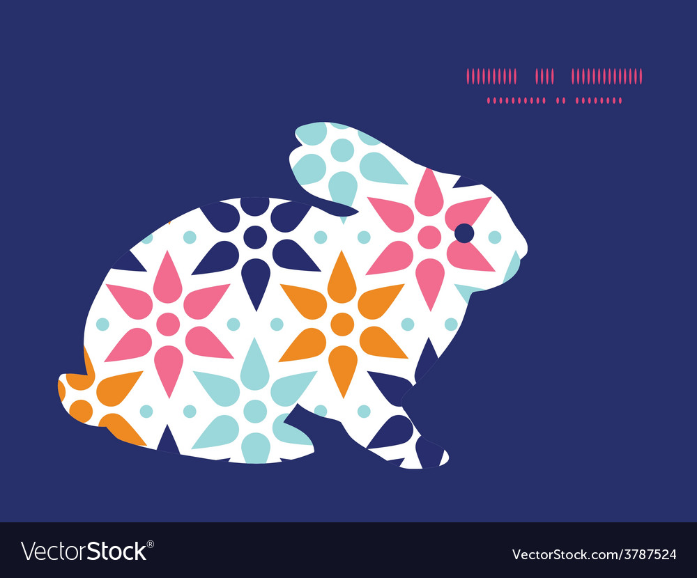 Abstract colorful stars bunny rabbit