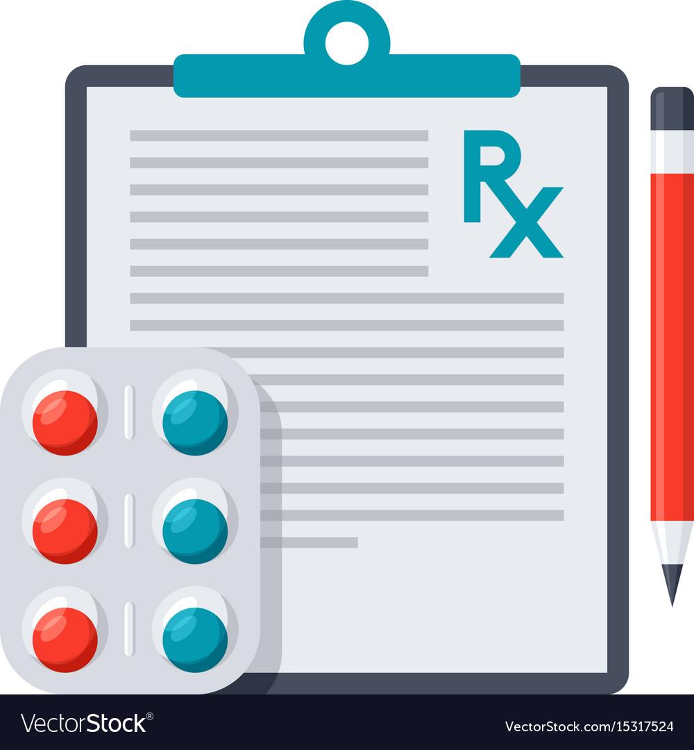 Medical prescription icon vector image