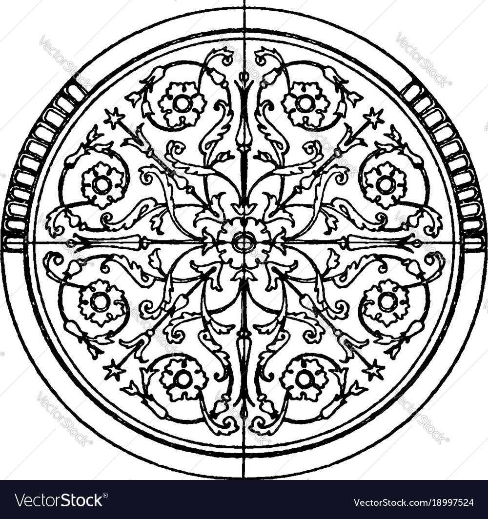 Modern circular panel is a french design vintage