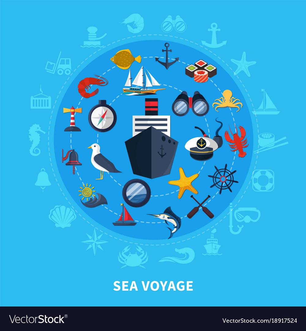 Nautical concept vector image