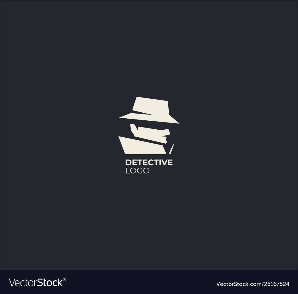 spy detective logo design template royalty free vector image vectorstock
