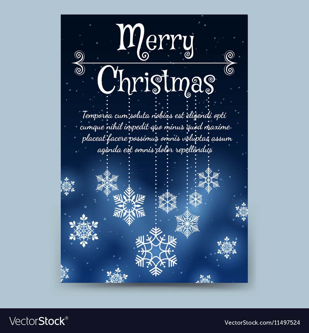 Winter Brochure Template With Snowflake Garland Vector Image